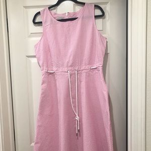 Talbots Pink Seersucker Dress Size 12